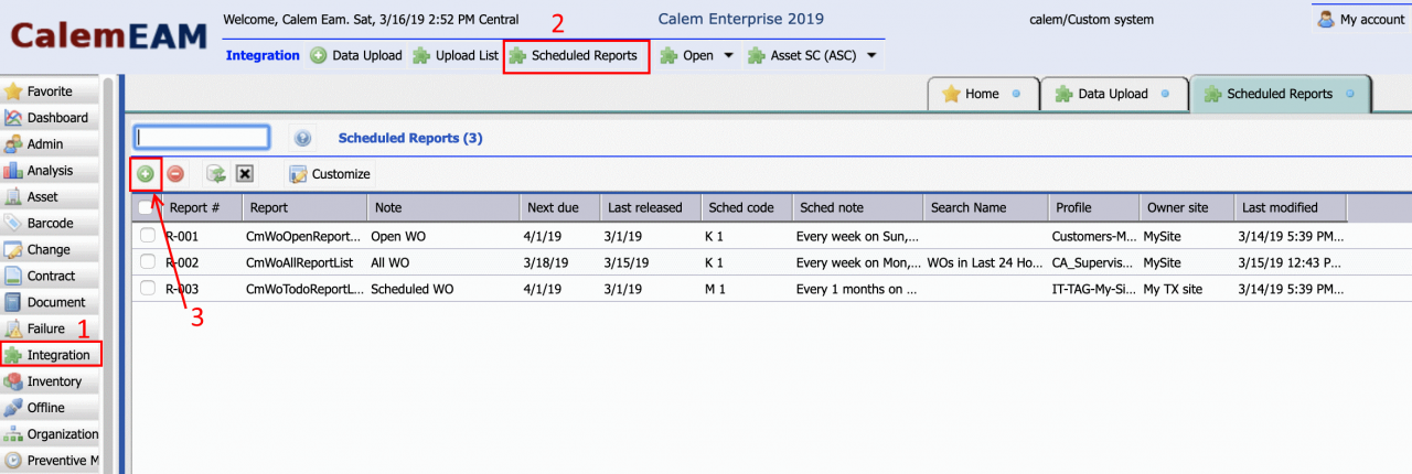 How to Set up Scheduled Reports in Calem