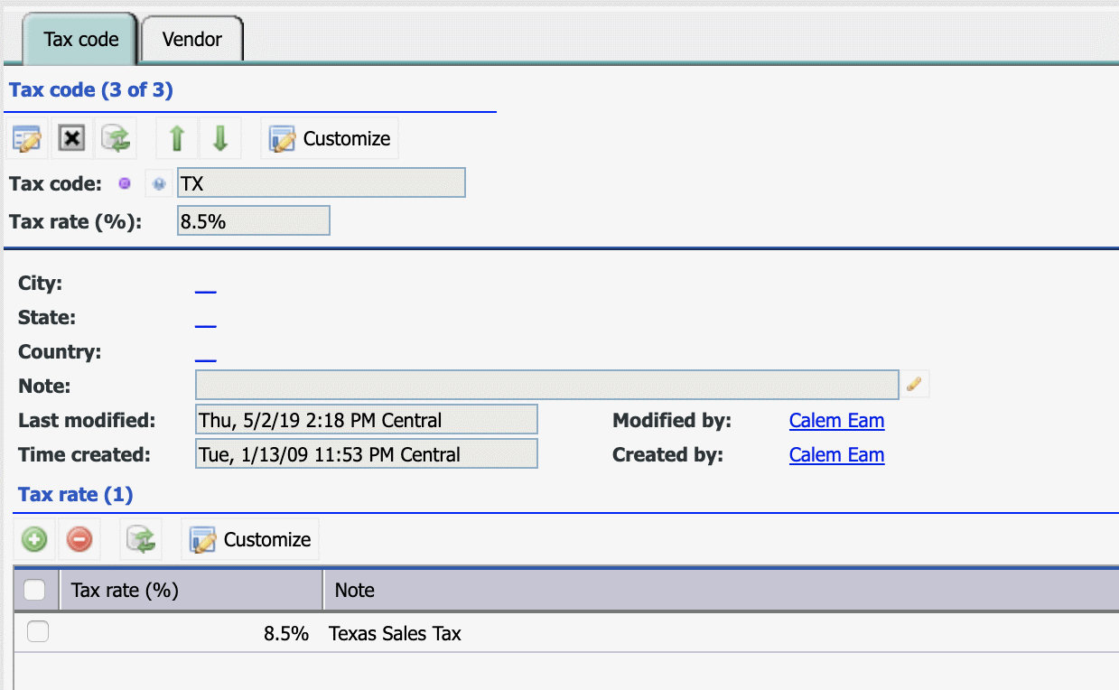 How to Set Up  Vendor Tax Codes