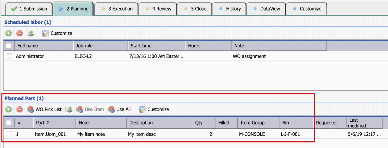 Smart Lookup in Calem Enterprise R2019a