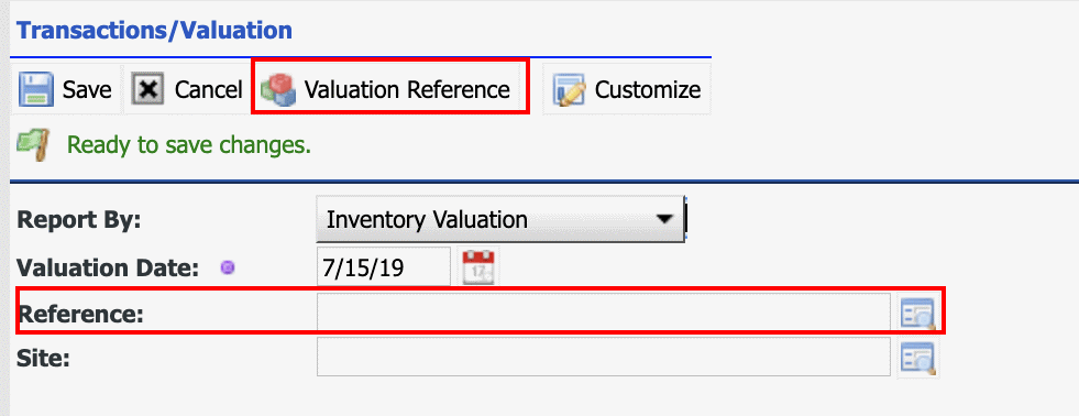 How to Report Inventory Valuation in Calem