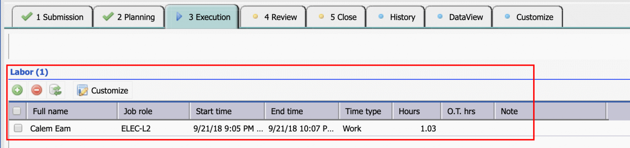 How to Mandate Labor for Work Order Completion