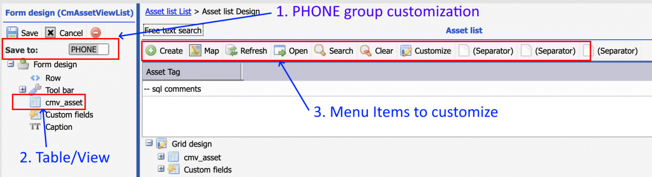 How to Customize List View in Calem Touch