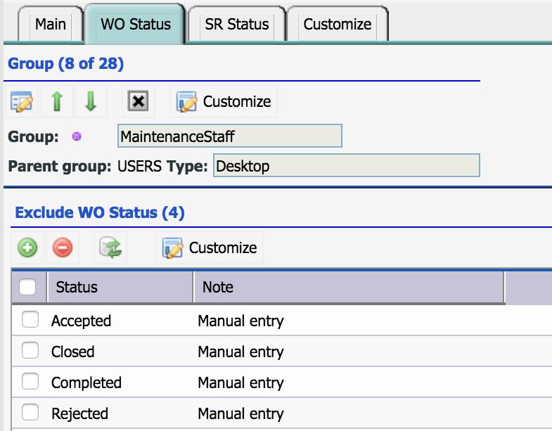 Part I - Work Order Status Control